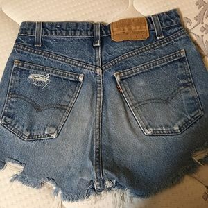Levi's vintage high waisted orange tab shorts